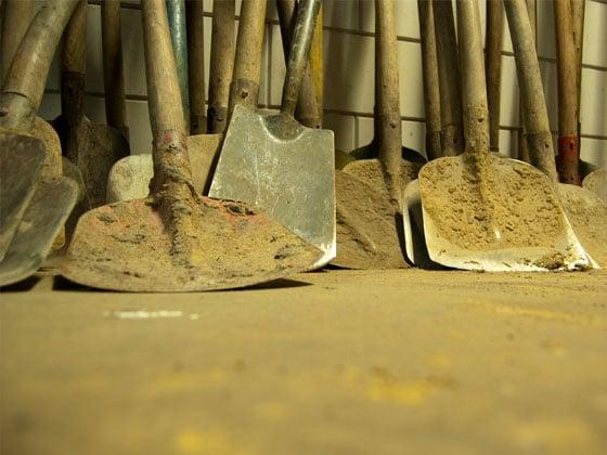 schop voor opgravingen