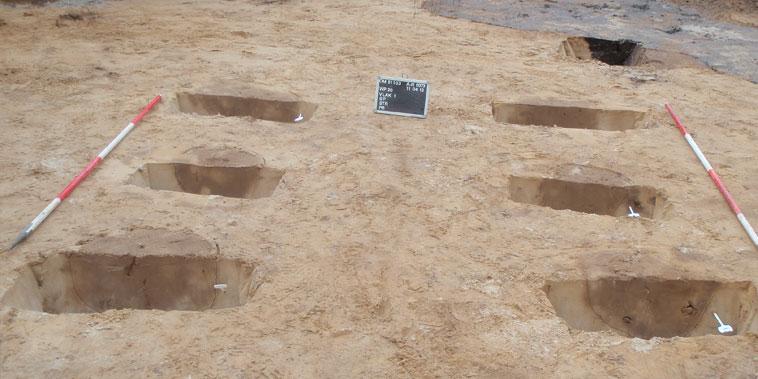 archeologische opgraving voor onderzoek in Leersum